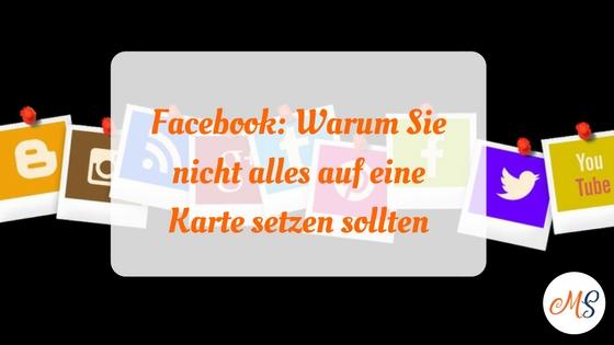 Warum Sie im Marketing nicht nur auf Facebook setzen sollten